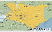 Savanna Style Panoramic Map of Kenya