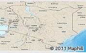 Shaded Relief Panoramic Map of Kenya