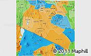 Political Shades 3D Map of KAJIADO