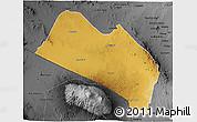 Physical 3D Map of LOITOKITOK, darken, desaturated