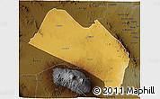 Physical 3D Map of LOITOKITOK, darken