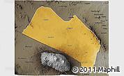 Physical 3D Map of LOITOKITOK, darken, semi-desaturated