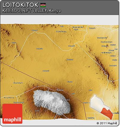 Physical 3D Map of LOITOKITOK