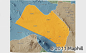Political 3D Map of LOITOKITOK, semi-desaturated