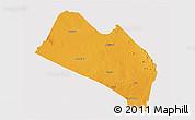 Political 3D Map of LOITOKITOK, single color outside