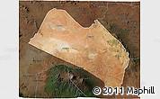 Satellite 3D Map of LOITOKITOK, darken