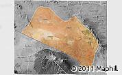 Satellite 3D Map of LOITOKITOK, desaturated