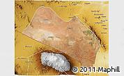 Satellite 3D Map of LOITOKITOK, physical outside