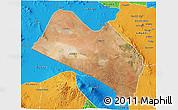 Satellite 3D Map of LOITOKITOK, political outside