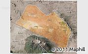 Satellite 3D Map of LOITOKITOK, semi-desaturated