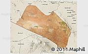 Satellite 3D Map of LOITOKITOK, shaded relief outside