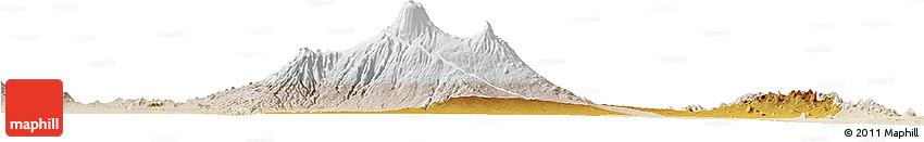 Physical Horizon Map of LOITOKITOK, lighten