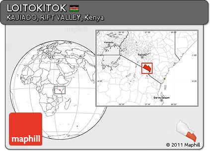 Blank Location Map of LOITOKITOK