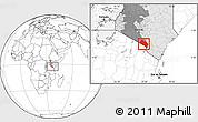 Blank Location Map of LOITOKITOK, highlighted country, highlighted grandparent region