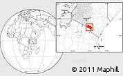 Blank Location Map of LOITOKITOK, highlighted grandparent region