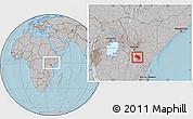Gray Location Map of LOITOKITOK, within the entire country, hill shading