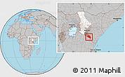 Gray Location Map of LOITOKITOK, highlighted parent region, highlighted grandparent region, within the entire country