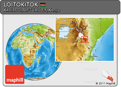 Physical Location Map of LOITOKITOK, highlighted parent region