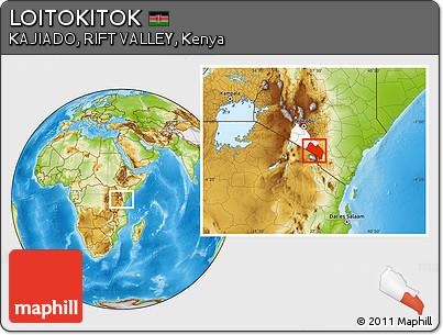 Physical Location Map of LOITOKITOK, highlighted parent region