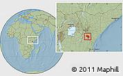 Savanna Style Location Map of LOITOKITOK, within the entire country, hill shading