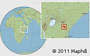 Savanna Style Location Map of LOITOKITOK, within the entire country