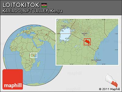 Savanna Style Location Map of LOITOKITOK