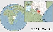 Savanna Style Location Map of LOITOKITOK, highlighted country, highlighted parent region, hill shading
