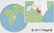 Savanna Style Location Map of LOITOKITOK, highlighted country, highlighted parent region