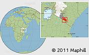 Savanna Style Location Map of LOITOKITOK, highlighted parent region, highlighted grandparent region