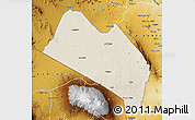 Shaded Relief Map of LOITOKITOK, physical outside