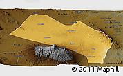 Physical Panoramic Map of LOITOKITOK, darken