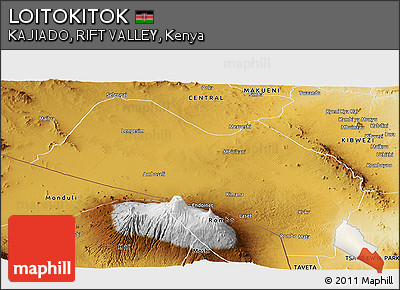 Physical Panoramic Map of LOITOKITOK