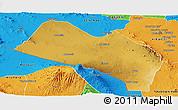 Physical Panoramic Map of LOITOKITOK, political outside
