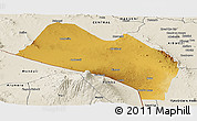 Physical Panoramic Map of LOITOKITOK, shaded relief outside