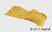 Physical Panoramic Map of LOITOKITOK, single color outside
