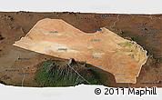 Satellite Panoramic Map of LOITOKITOK, darken