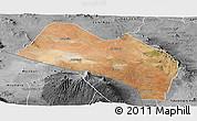Satellite Panoramic Map of LOITOKITOK, desaturated