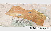 Satellite Panoramic Map of LOITOKITOK, lighten