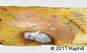 Satellite Panoramic Map of LOITOKITOK, physical outside
