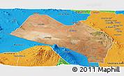 Satellite Panoramic Map of LOITOKITOK, political outside