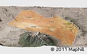 Satellite Panoramic Map of LOITOKITOK, semi-desaturated