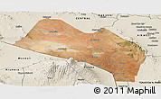 Satellite Panoramic Map of LOITOKITOK, shaded relief outside
