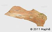 Satellite Panoramic Map of LOITOKITOK, single color outside
