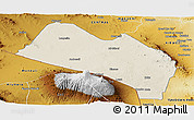 Shaded Relief Panoramic Map of LOITOKITOK, physical outside