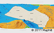 Shaded Relief Panoramic Map of LOITOKITOK, political outside