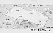 Silver Style Panoramic Map of LOITOKITOK