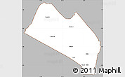 Gray Simple Map of LOITOKITOK, cropped outside