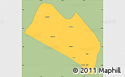 Savanna Style Simple Map of LOITOKITOK, single color outside