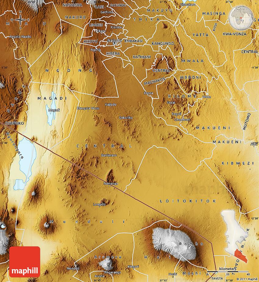 Physical Map of KAJIAD...