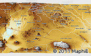 Physical Panoramic Map of KAJIADO